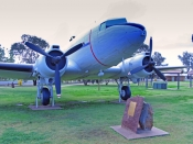 west-wyalong;west-wyalong-plane-park;west-wyalong-douglas-dc3-plane;douglas-dc3-dakota;airplane-on-display;airplane-in-park;new-south-wales;newell-highway;newell-hwy-town;steven-david-miller