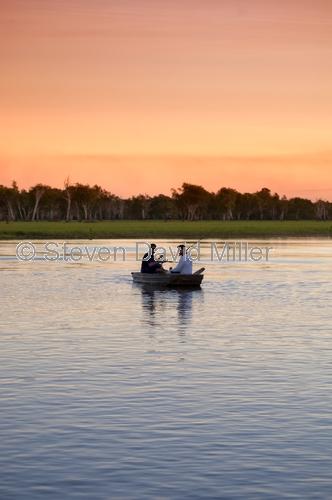 kakadu;south alligator river;yellow waters;kakadu national park;northern territory;northern territory national park;fishermen at kakadu national park;fishing in kakadu