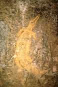 ubirr-rock-art-site;aboriginal-rock-art;kakadu-national-park;kakadu;northern-territory;northern-territory-national-park;rock-art;australian-rock-art;ubirr;rock-art-crocodile;crocodile-depicted-in-rock-art