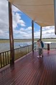 mareeba;mareeba-wetlands;mareeba-wetlands-visitor-centre;queensland-wetlands;people-using-spotting-scope;spotting-scope