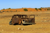 oodnadatta-track;outback-track;old-ghan-railway-heritage-trail;outback-wreck;old-car-wreck;rusty-car-wreck