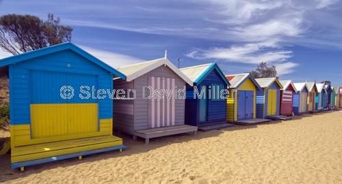 brighton beach;beach bathing boxes;melbourne bayside beach;bathing boxes;melbourne beach