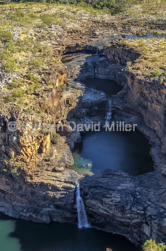 upper mitchell falls;mitchell falls;mitchell river national park;mitchell plateau;mitchell river aerial view;kimberley;the kimberley;western australia national park
