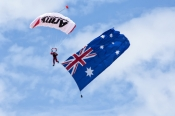 red-bull-air-race;perth-red-bull-air-race;australian-flag;parachute;parachute-jump