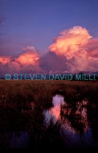 pahaokee overlook;shark river;shark river slough;freshwater slough;everglades national park;everglades thunderstorm;florida national park;everglades sunset;everglades thunderstorm;thunder clouds;thunder clouds at sunset