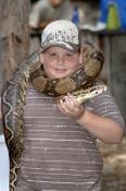 snake-demonstation;boy-handling-snake;boy-handling-python;australian-reptile-park;boy-with-snake;boy-with-python