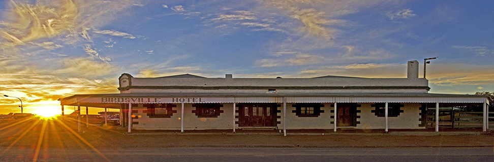 Sunset at Birdsville Hotel, Birdsville, Queensland, Australia