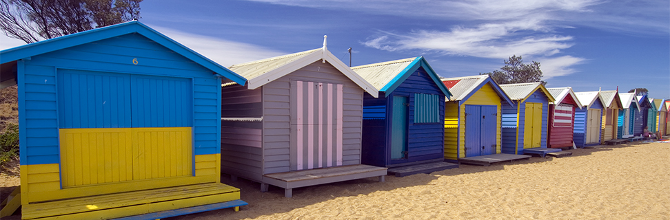 Bathing Boxes at Brighton Beach, Melbourne, Victoria, Australia