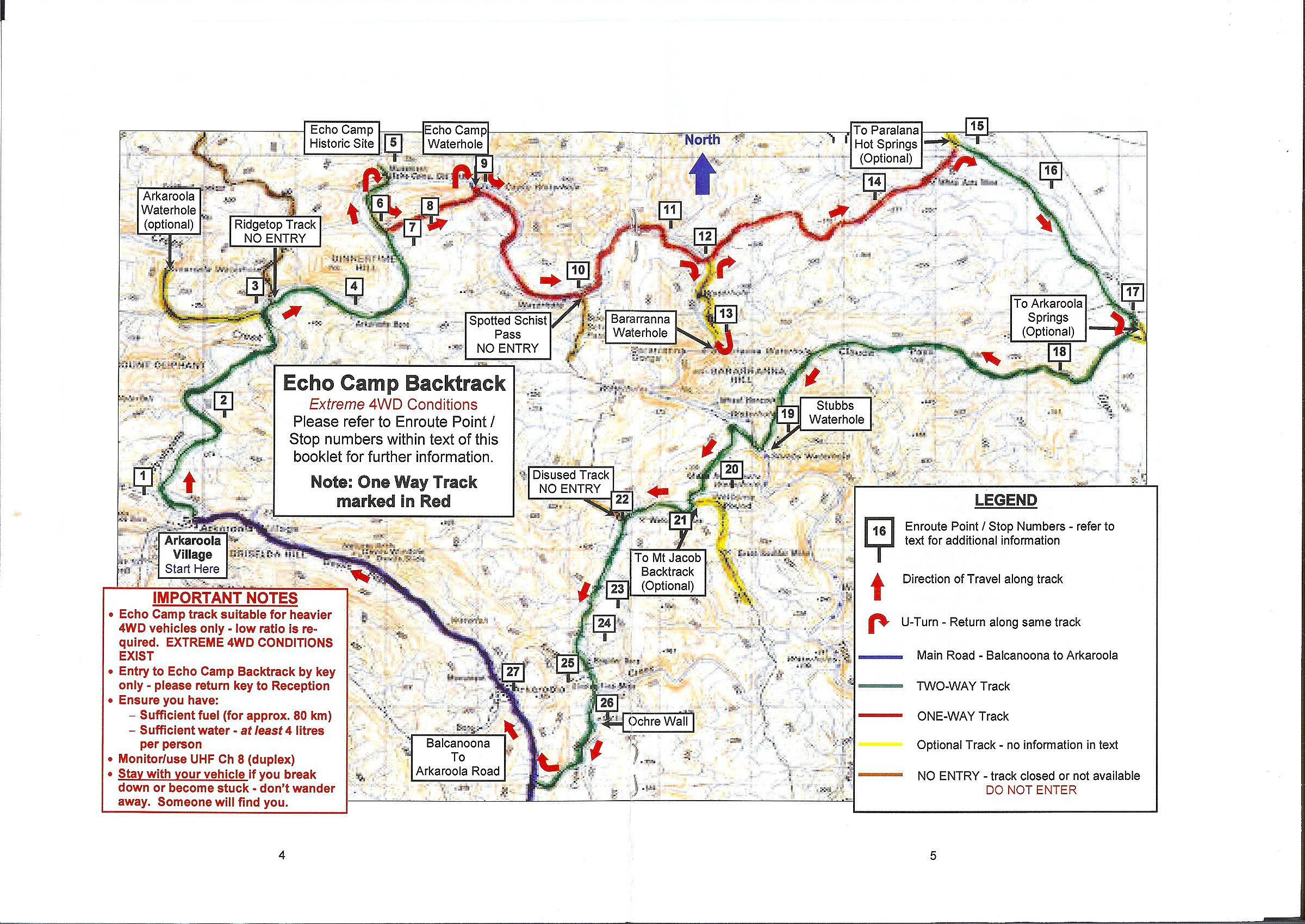 Echo Camp Track Map