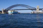 sydney-harbour;sydney-harbor;sydney-harbour-bridge;ship-on-sydney-harbour;freighter-on-sydney-harbou