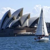 sydney;sydney-harbour;sydney-harbor;sydney-opera-house;sailboat-on-sydney-harbour;steven-david-mille