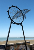 hervey-bay;dolphin-sculpture;great-sandy-marine-park;queensland;great-sandy-strait;hervey-bay-foresh