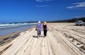 flinders-beach;stradbroke-island;north-stradbroke-island;straddie;people-walking-on-beach;couple-wal