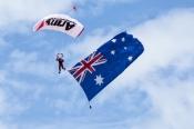 red-bull-air-race;perth-red-bull-air-race;australian-flag;parachute;parachute-jump