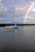 rookery-bay;naples;boat-in-rookery-bay;boat-in-naples-bay;boat-with-rainbow;rookery-bay-rainbow;rain